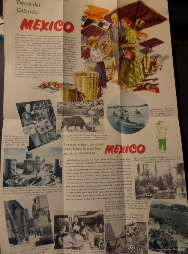 Folletos de turismo: Folleto Su Fiesta en Mexico, Pan American World Airways. Años 50. Ver fotografias - Foto 3 - 42287957