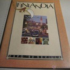 Folletos de turismo: EXPO 92.- FOLLETO 88 PAGINAS FINLANDIA EXPO 92 SEVILLA. Lote 42288674