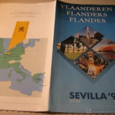 Folletos de turismo: EXPO 92.-FOLLETO DESPLEGABLE:FLANDES. SEVILLA 92. Lote 42361172