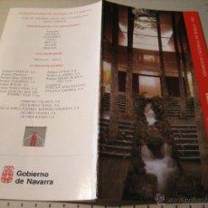 Folletos de turismo: EXPO 92.-FOLLETO DESPLEGABLE: PABELLON DE NAVARRA.- GOBIERNO DE NAVARRA. Lote 42361693