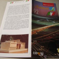 Folletos de turismo: EXPO 92.-FOLLETO DESPLEGABLE: ANDALUCIA 92. BENVENUTI. ITALIA. Lote 42362316