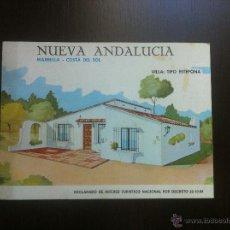 Folletos de turismo: FOLLETO NUEVA ANDALUCÍA. MARBELLA - COSTA DEL SOL. VILLA TIPO ESTEPONA.. Lote 42721332