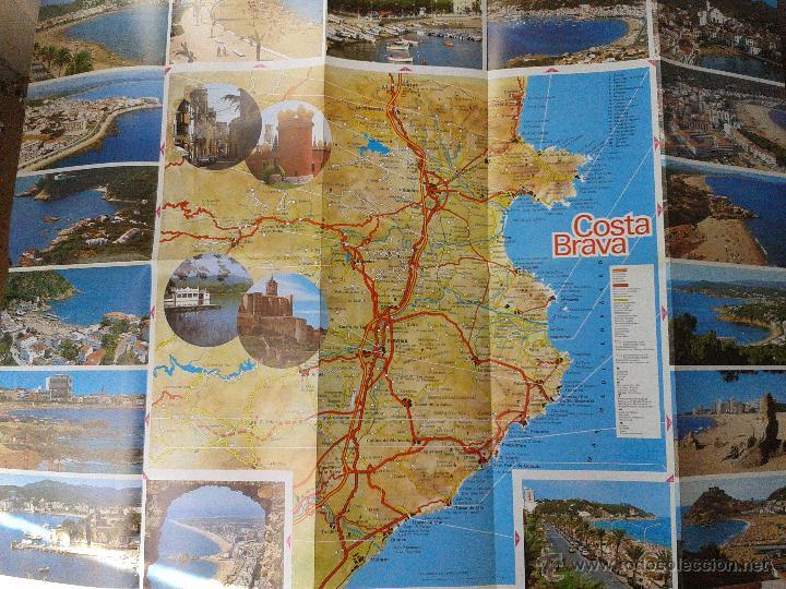 Mapa Costa Brava Playas.Mapa Playas Calas Costa Brava