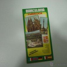 Folletos de turismo: MAPA GUÍA TURÍSTICA DE BARCELONA. Lote 43252990