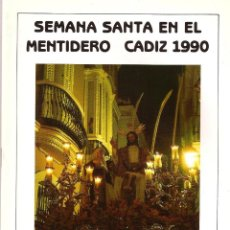 Folletos de turismo: SEMANA SANTA 1990 ITINERARIO. Lote 43363673
