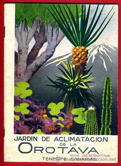 FOLLETO JARDIN DE ACLIMATACION DE LA OROTAVA , TENERIFE ,CANARIAS ,ORIGINAL ,BO (Coleccionismo - Folletos de Turismo)