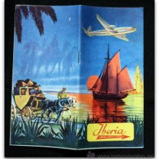 Folletos de turismo: IBERIA - FOLLETO RUTAS - 1953 - LIENAS AEREAS ESPAÑOLAS. Lote 43769845