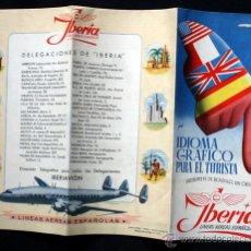 Folletos de turismo: IBERIA - FOLLETO INTERPRETE DE BOLSILLO - LIENAS AEREAS ESPAÑOLAS - 41 X 30CM. Lote 43769980