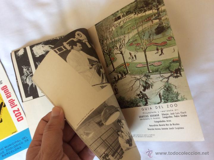 Folletos de turismo: GUIA DEL ZOO DE BARCELONA + SUPLEMENTO - AÑO 1962 - MUY BONITOS - Foto 8 - 43819142