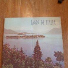 Folletos de turismo: F 3262 LAGOS DE ITALIA - ORGANISMO DEL ESTADO ITALIANO PARA EL TURISMO AÑO 1977 1978. Lote 43832283