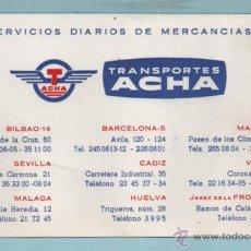 Folletos de turismo: 0993 FOLLETO DE PUBLICIDAD DE TRANSPORTES ACHA . Lote 44047230