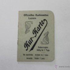Folletos de turismo: CARTILLA PARA OFICIALES MILITAR HOTEL RUTLI 1911. Lote 44080573