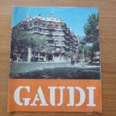 Folletos de turismo: GAUDI FOLLETO MONUMENTOS TURISMO INFORMACION EN ITALIANO AÑOS 50. Lote 44228304