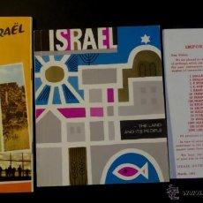 Folletos de turismo: LOTE DE ISRAEL, GUIA, DOCUMENTO DE CAMBIO,LIBRITO INFORMATIVO, DEL AÑO 1962. VER FOTOGRAFIAS.. Lote 44314297