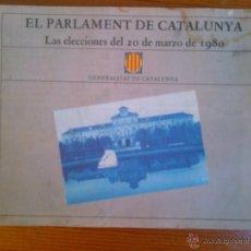Folletos de turismo: EL PARLAMENT DE CATALUNYA, LAS ELECCIONES DEL 20 DE MARZO DE 1980. Lote 44529622