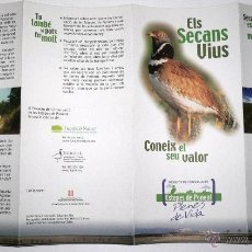 Folletos de turismo: FOLLETO CUADRIPTICO ELS SECANS VIUS. ESTEPES DE PONENT. Lote 44688529