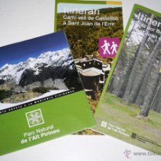 Folletos de turismo: 3 FOLLETOS DE RUTAS Y MAPAS DEL PARC NATURAL DE ALT PIRINEU . Lote 44688588