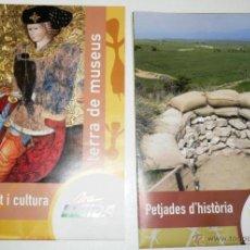 Folletos de turismo: FOLLETOS TURISTICOS, RUTAS Y MAPAS ARA LLEIDA, TERRA DE MUSEUS I ESPAIS DE MEMÒRIA. . Lote 44688696