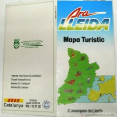 Folletos de turismo: PLANO MAPA TURISTICO COMARQUES DE LLEIDA.. Lote 44688839