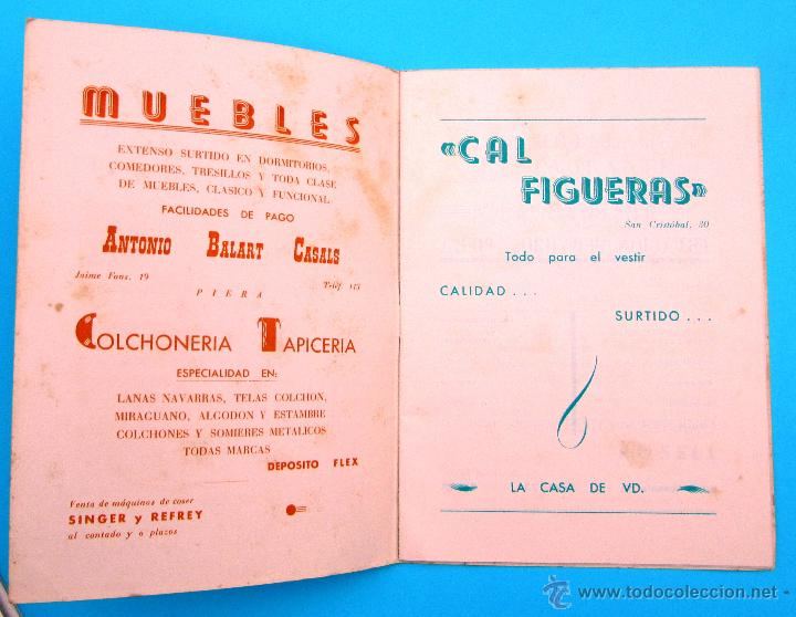 Folletos de turismo: PROGRAMA DE LA FIESTA MAYOR DE PIERA. 8, 9 Y 10 DE SEPTIEMBRE DE 1963. - Foto 2 - 44854481