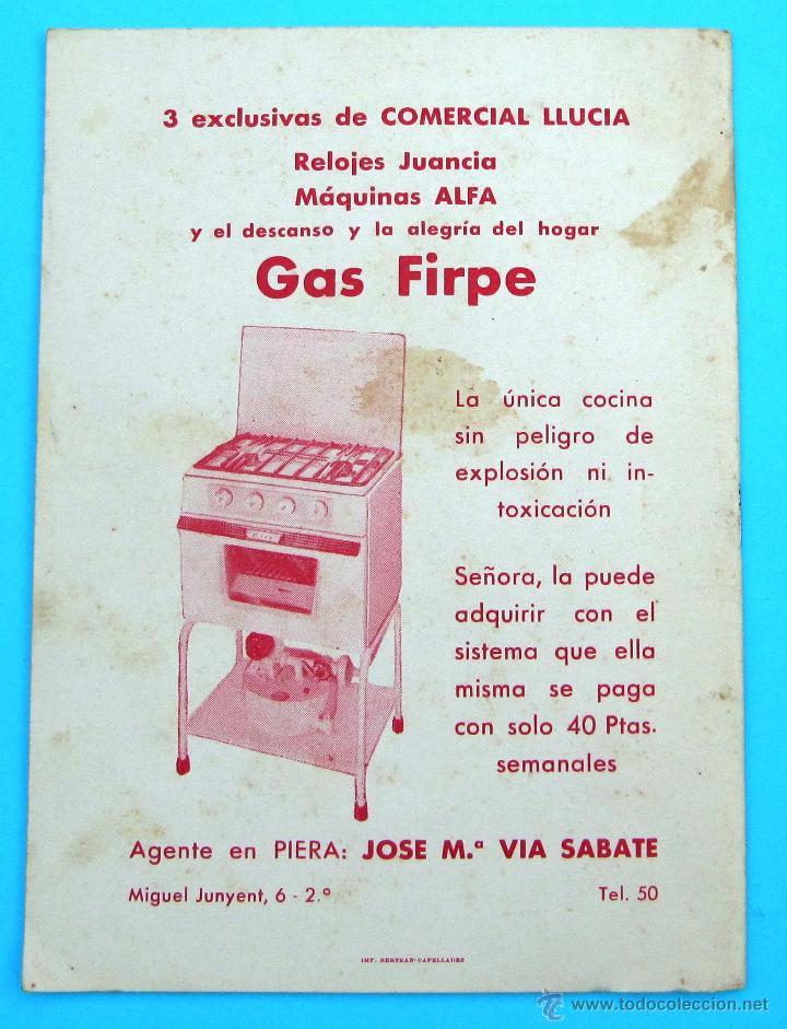 Folletos de turismo: PROGRAMA DE LA FIESTA MAYOR DE PIERA. 8, 9 Y 10 DE SEPTIEMBRE DE 1963. - Foto 4 - 44854481