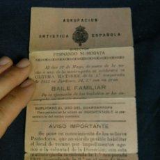 Folletos de turismo: FOLLETO AGRUPACIÓN ARTÍSTICA ESPAÑOLA FERNANDO M MORATA BAILE FAMILIAR 1923 JARDINES . Lote 44856225