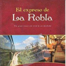 Folletos de turismo: FOLLETO - FEVE 2012 - EL EXPRESO DE LA ROBLA - TREN - FERROCARRIL - RENFE. Lote 44919014
