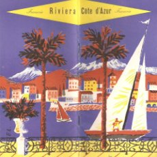 Folletos de turismo: RIVIERA - COTE D´AZUR, MAPA Y FOLLETO ANTIGUO . 32 PÁGINAS . Lote 45222979