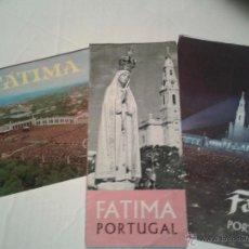 Folletos de turismo: LOTE 3 ANTIGUOS FOLLETOS FATIMA PORTUGAL AÑOS 60. Lote 39519002