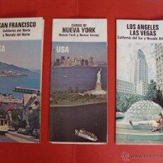 Folletos de turismo: 3 PLANOS GUÍAS ESTADOS UNIDOS : NUEVA YORK, SAN FRANCISCO Y LOS ÁNGELES. 1977. DESPLEGABLES. Lote 45327269