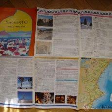 Folletos de turismo: PLANO TURÍSTICO SAGUNTO. (AYUNTAMIENTO, 1993). DESPLEGABLE. ¡COLECCIONISTA!. Lote 45327369