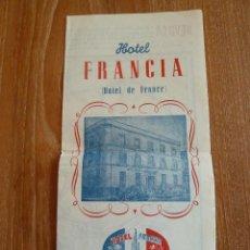 Folletos de turismo: FOLLETO MAPA SEVILLA - HOTEL FRANCIA AÑOS 50. Lote 44046887