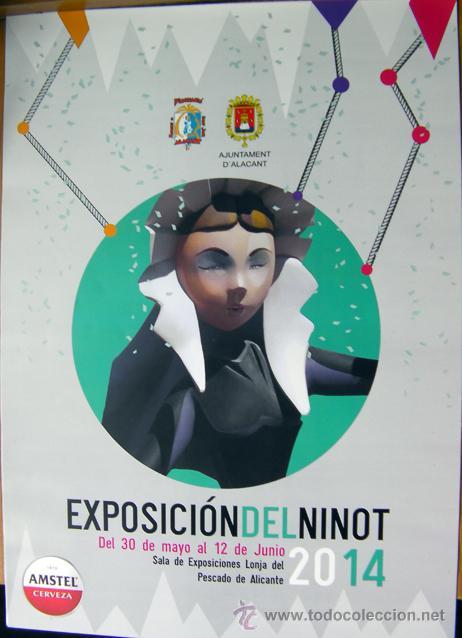 EXPOSICION DEL NINOT 2014-HOGUERAS DE ALICANTE-FOGUERES DE SANT JOAN-VER FOTO ADICIONAL (Coleccionismo - Folletos de Turismo)