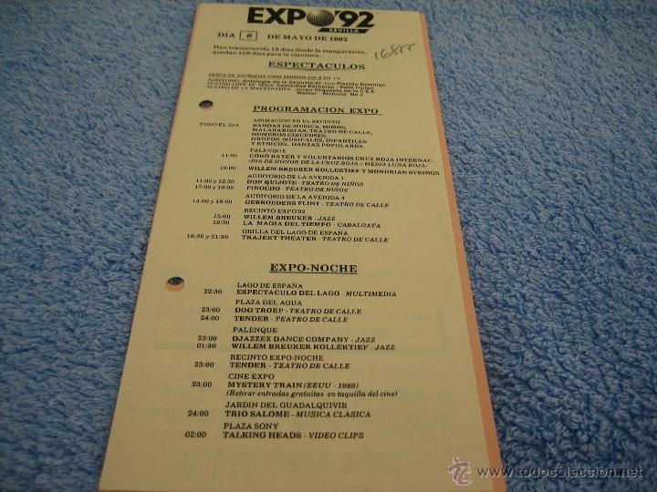 Expo 92 Folleto Programacion De La Expo Dia 8 Comprar Folletos
