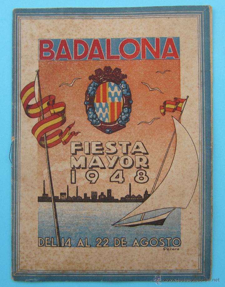 BADALONA. FIESTA MAYOR 1948. (Coleccionismo - Folletos de Turismo)