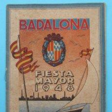 Folletos de turismo: BADALONA. FIESTA MAYOR 1948.. Lote 45723635
