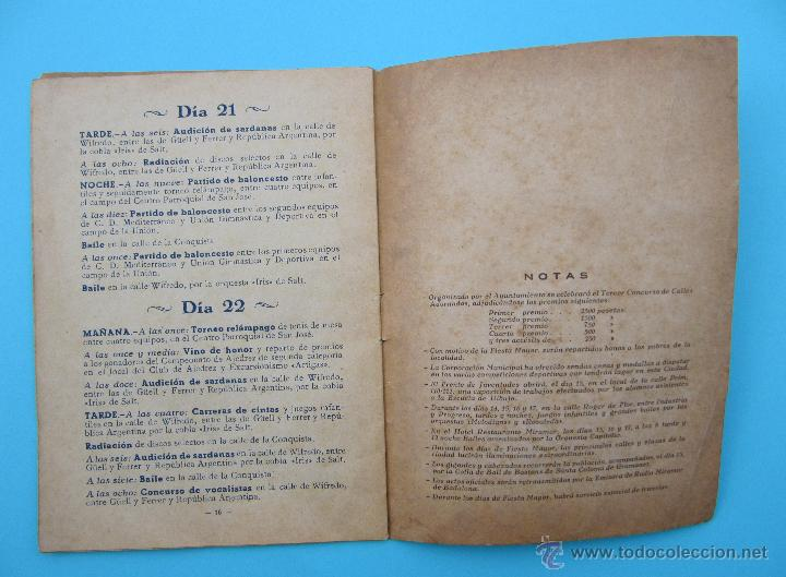 Folletos de turismo: BADALONA. FIESTA MAYOR 1948. - Foto 3 - 45723635