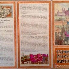Folletos de turismo: TRÍPTICO EXPOSICION INTERNACIONAL DE BARCELONA 1929. Lote 45800675