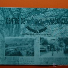 Folletos de turismo: 1995 - CAMPING DE BERGA - TARIFAS . Lote 46008412