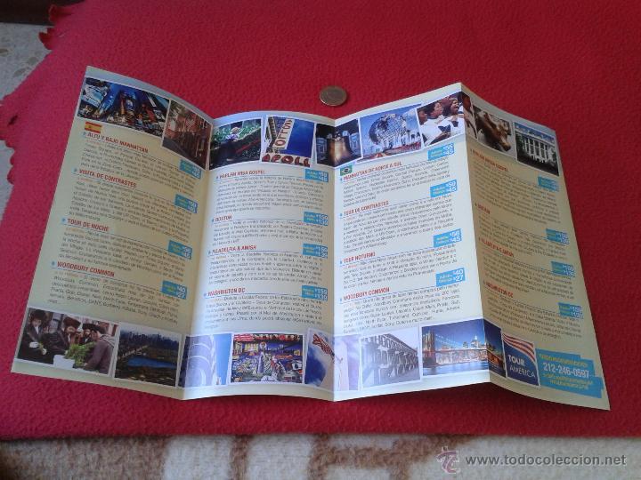 Folletos de turismo: FOLLETO TURISTICO TOUR AMERICA NUEVA YORK EN ESPAÑOL. TURISMO PROCEDENTE DE LA CIUDAD DE NEW YORK - Foto 2 - 46236719