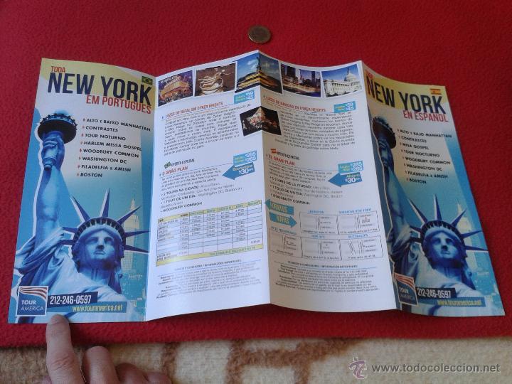 Folletos de turismo: FOLLETO TURISTICO TOUR AMERICA NUEVA YORK EN ESPAÑOL. TURISMO PROCEDENTE DE LA CIUDAD DE NEW YORK - Foto 3 - 46236719
