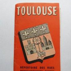 Folletos de turismo: FOLLETO-MAPA ANTIGUO DE TOULOUSE (FRANCIA). Lote 46241986