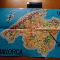 Folletos de turismo: ANTIGUO FOLLETO FOLLETO MAJORICA PERLAS MANACOR CON MAPA MALLORCA. Lote 46667648