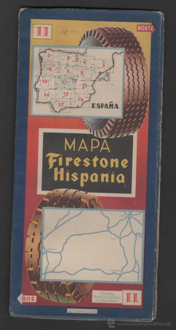 Folletos de turismo: ANTIGUO MAPA FIRESTONE HISPANIA Nº 11 - Foto 2 - 46775427