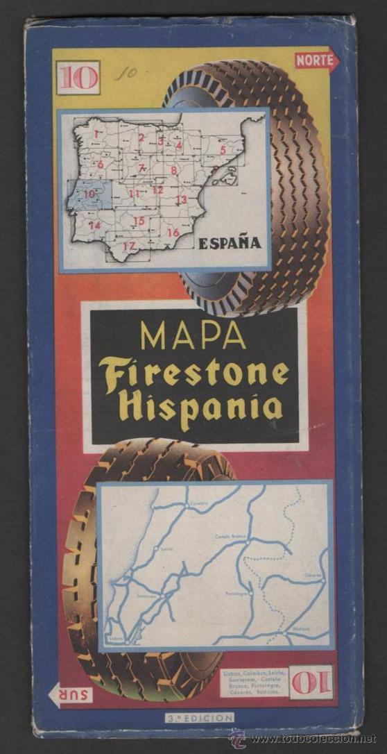 Folletos de turismo: ANTIGUO MAPA FIRESTONE HISPANIA Nº 10 - Foto 2 - 46775520