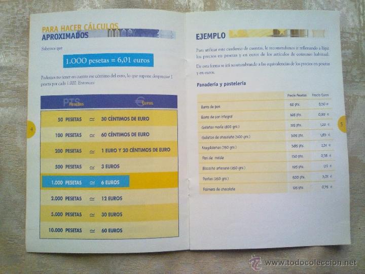Folletos de turismo: Vendo Cuaderno para llevar las cuentas en Euros del Año 1999. (Más fotos en el interior). - Foto 2 - 196544982