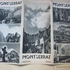 Folletos de turismo: ANTIGUO FOLLETO DE MONSERRAT AÑOS 40 O 50. Lote 46834933