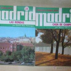 Folletos de turismo: LA CASA DE CAMPO /LAS RONDAS FASCICULOS DE MADRID EDITADOS POR ESPASA CALPE 1979. Lote 47008155