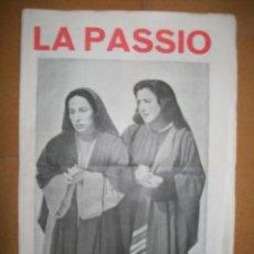 Folletos de turismo: LA PASSIÓ -OLESA DE MONTSERRAT, 1961. Lote 47010342