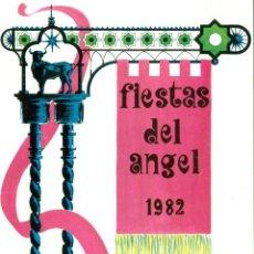 Folletos de turismo: TERUEL PROGRAMA FIESTAS DEL ANGEL 1982. Lote 47044755